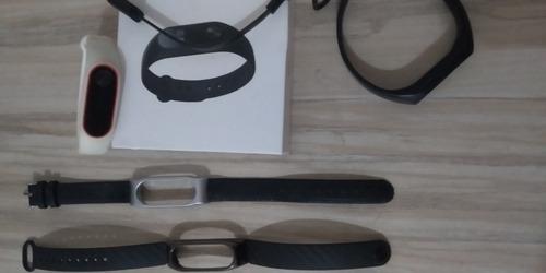 pulseira mi band 2 smartband + 3 pulseiras negociavel