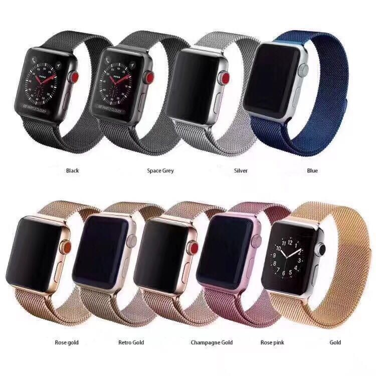 2e2cab7ebb7 Pulseira Milanese Aço Loop Metal Para Apple Watch 1 2 3 - R  57