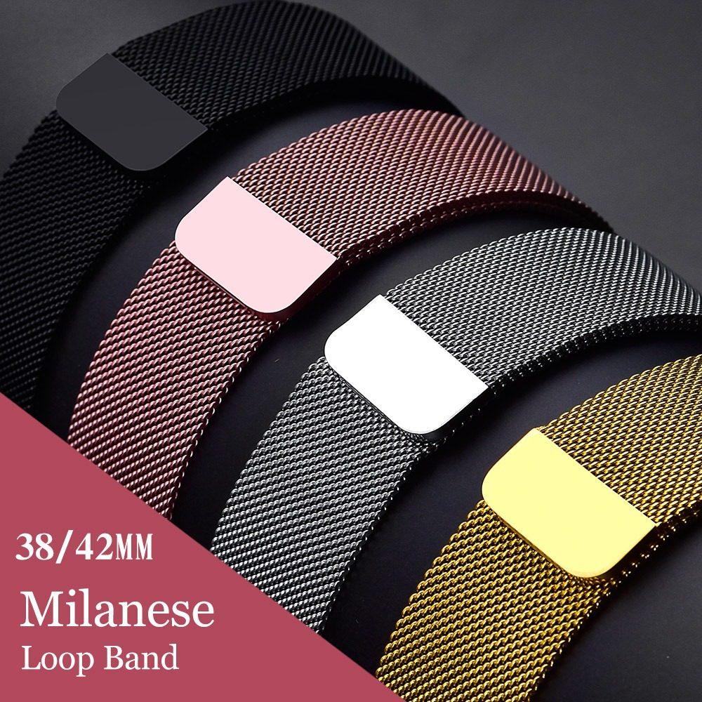 e42041b3f32 Pulseira Milanese Loop Aço P  Apple Watch Modelos 42 38mm - R  49