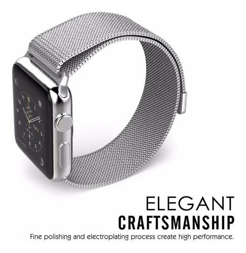 pulseira milanese para apple watch 42/44mm - prata