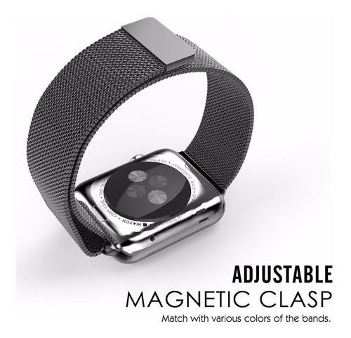 pulseira milanese para apple watch 42/44mm - preta