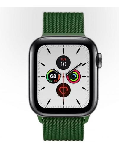 pulseira milanese para apple watch 42/44mm - verde escuro
