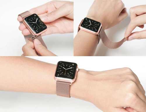 pulseira milanese para apple watch 42mm 38mm aço inoxidavel