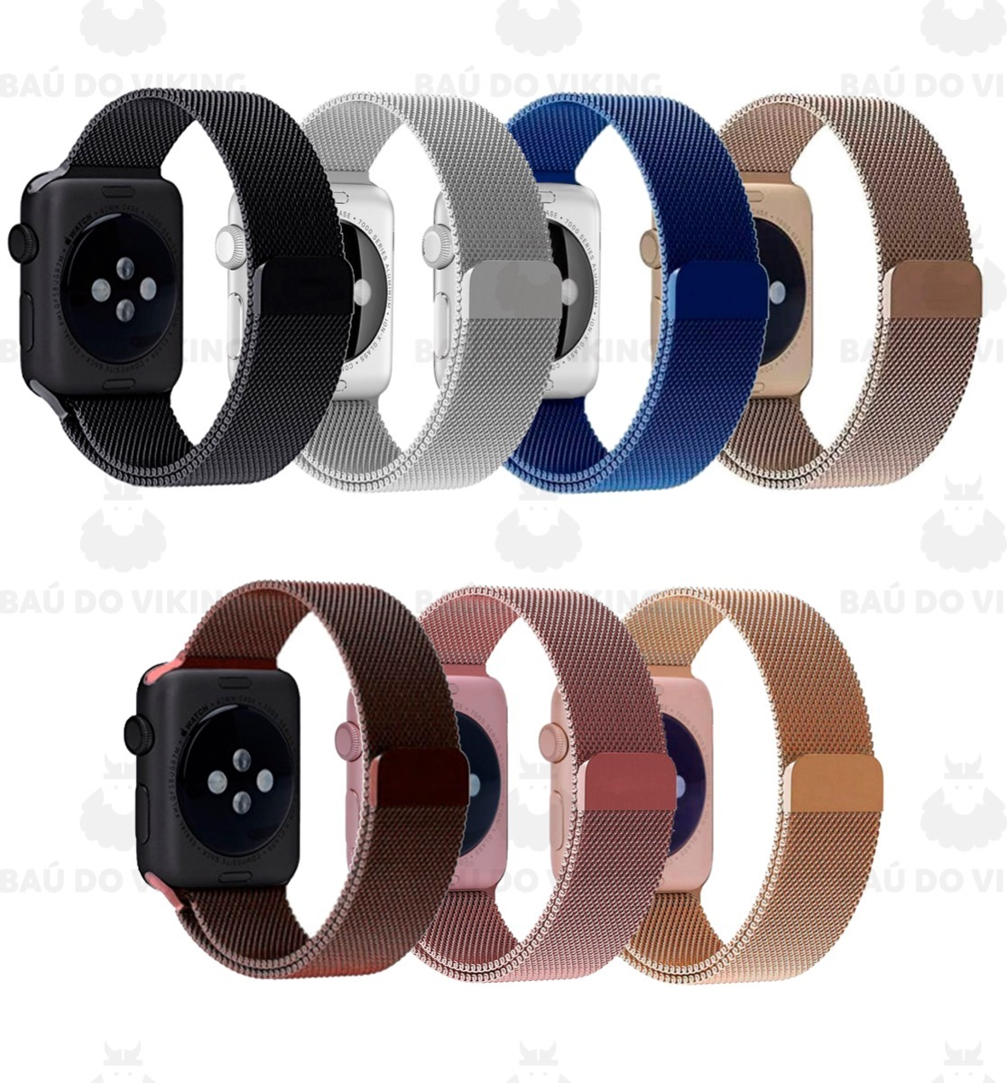 2856426e0ae Pulseira Milanese Para Apple Watch 42mm 38mm Aço Inoxidavel - R  57 ...