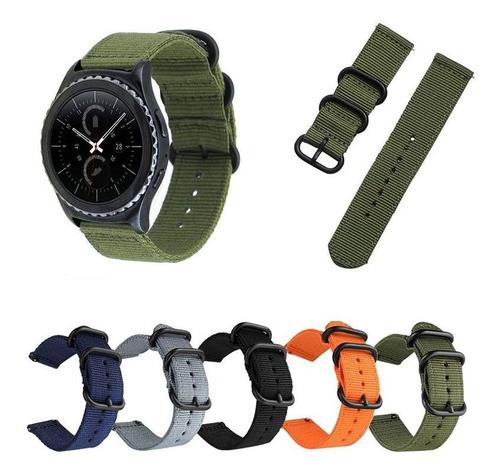 pulseira militar nylon para samsung galaxy watch 42mm r810