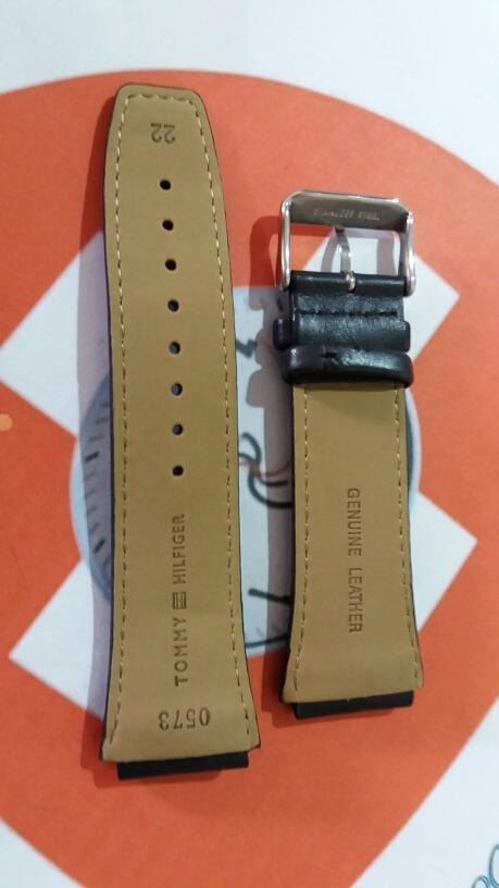 0e48a8bac3b Pulseira Mod 0573x Tommy Hilfiger Original 22mm Couro Preto