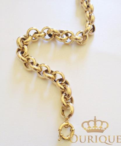 pulseira modelo portuguesa italiana ouro 18k 750  promoção