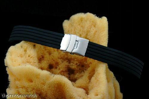 pulseira modena borracha 24 mm f-1 fecho deployant - preta