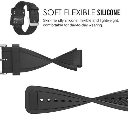 pulseira moko silicone  garmin vivoactive
