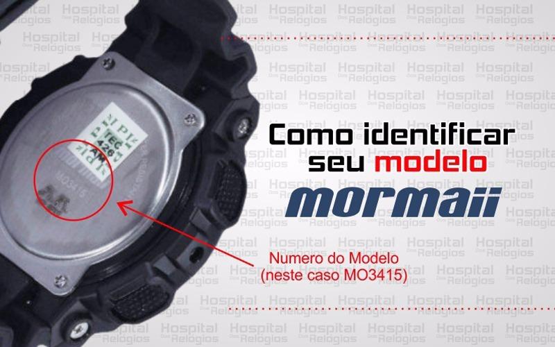 359d634bc1c Pulseira Mormaii Moy1554 Borracha Cinza M011554 - R  70