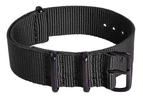 pulseira nato militar premium anéis pvd cor preta 20 mm