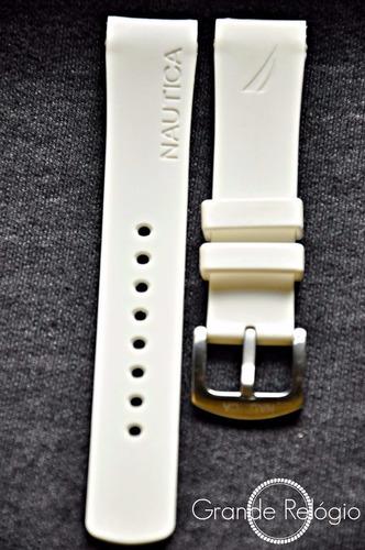 pulseira nautica 22mm branca
