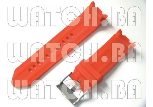 pulseira nautica 24mm borracha - vermelha - nova!!
