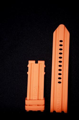 pulseira nautica 24mm laranja