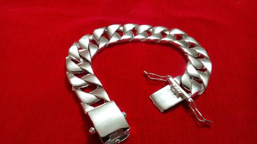 pulseira new generation. prata maciça 950k. 16mm.