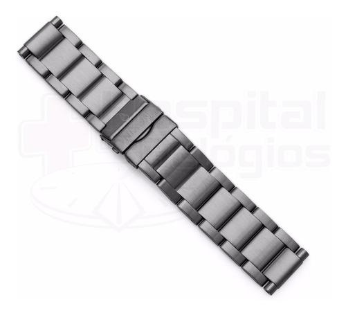 pulseira nixon 48-20 100% original aço gunmetal a486632 [j6]