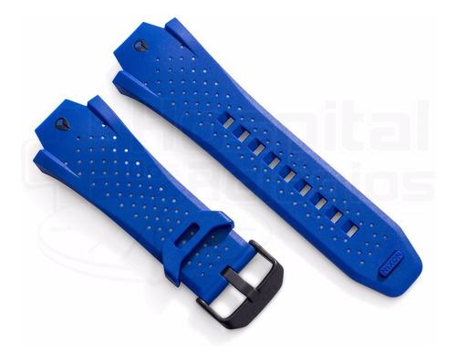 pulseira nixon super hero borracha azul a115576 origina [j6]