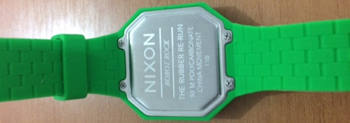 pulseira nixon the rubber re-run verde nova original