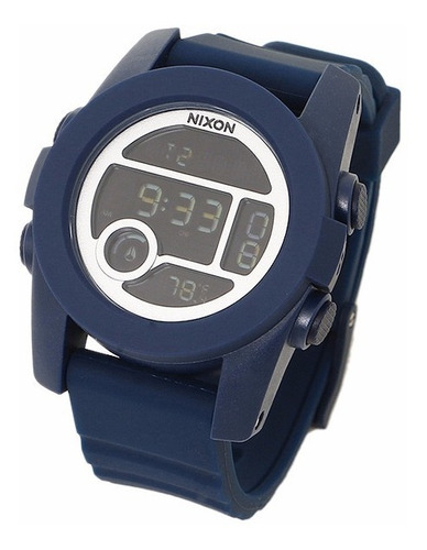 pulseira nixon the unit borracha azul a490307 22mm