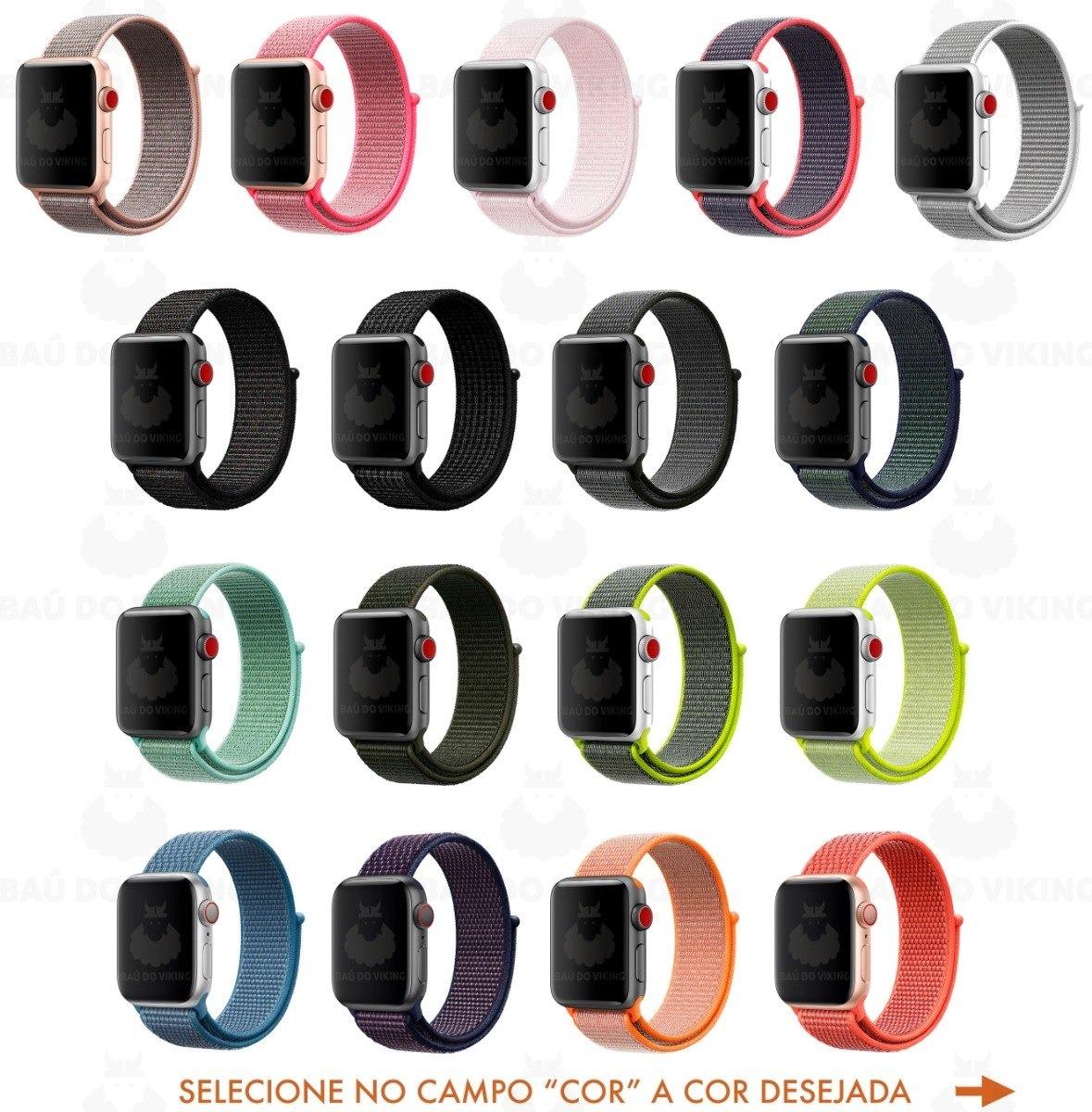 40f2f288294 pulseira nova nylon loop apple watch 42mm 38mm 44mm 40mm. Carregando zoom.