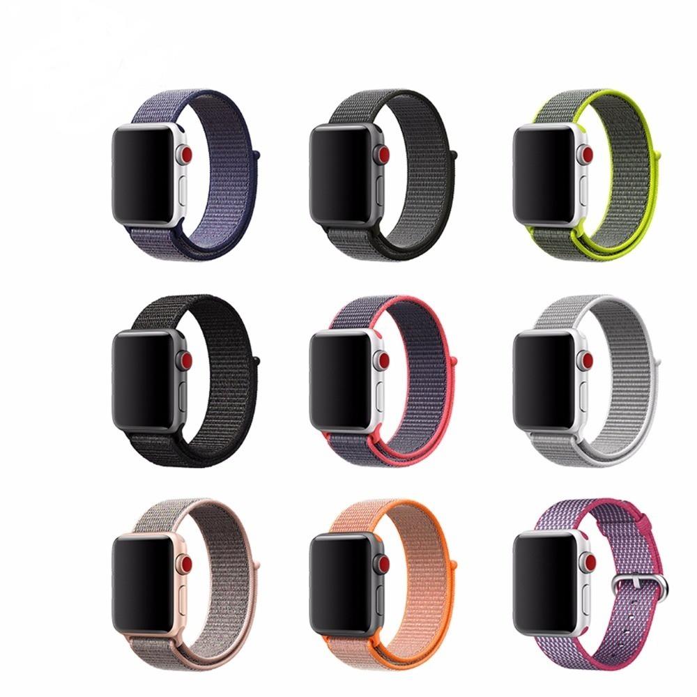c14db9c4112 pulseira nylon loop esportiva smart band watch 42mm 38mm 123. Carregando  zoom.