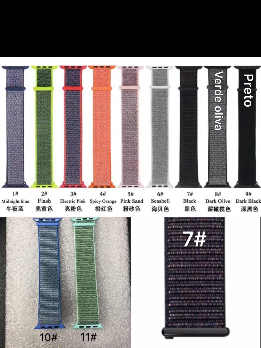 2c542d45e86 Pulseira Nylon Loop Esportiva Watch1
