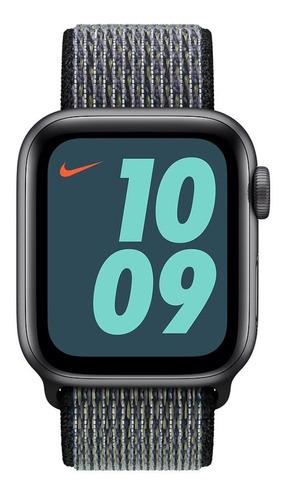 pulseira nylon loop p/ apple watch 42/44mm world indigo lime