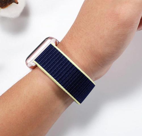 pulseira nylon loop para apple watch 38/40mm - alaskan blue