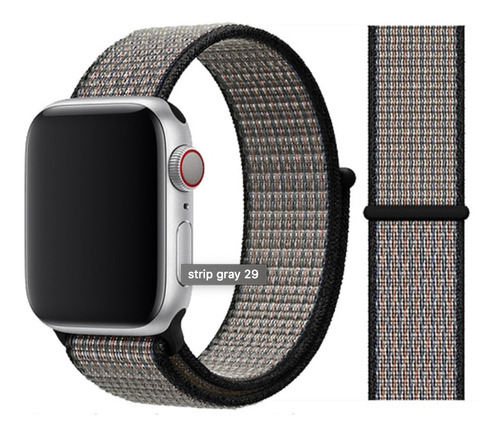 pulseira nylon loop para apple watch 38/40mm royal pulselava