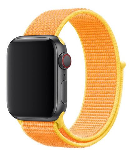 pulseira nylon loop para apple watch 42/44mm - canary yellow