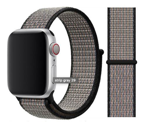 pulseira nylon loop para apple watch 42/44mm royal pulselava