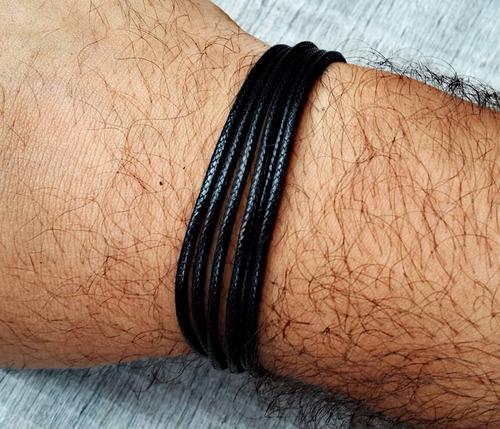 pulseira nylon magnetic black