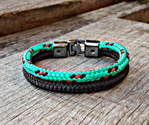 pulseira nylon magnetic verde