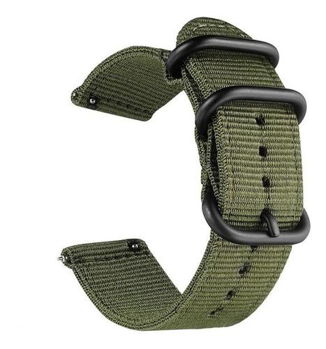 pulseira nylon militar para samsung galaxy watch active 40mm