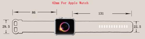 pulseira nylon p/ apple watch 42/44mm rosa c/ azul marinho