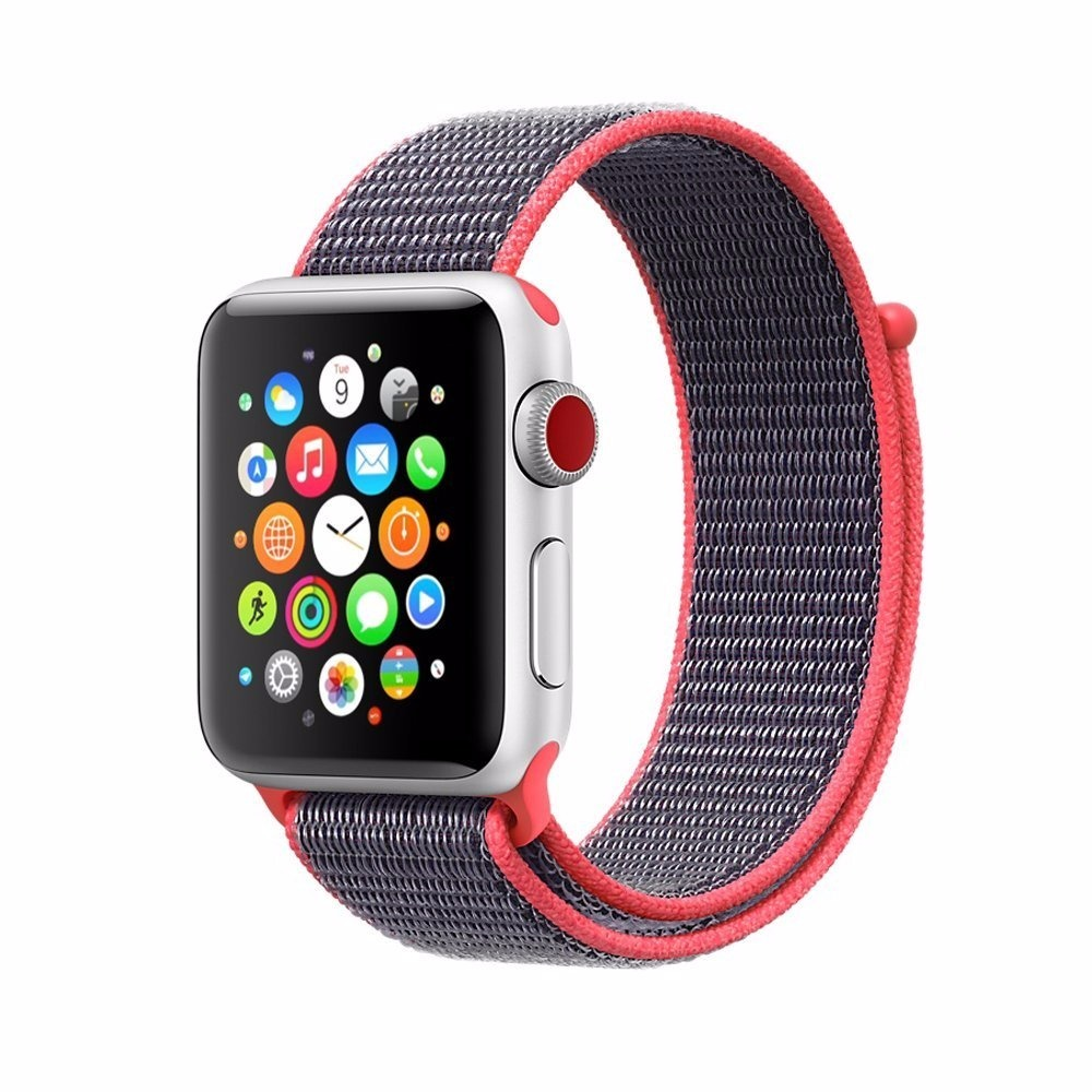 548c46eb81b pulseira nylon para apple watch sport 42mm l series 1 2 3. Carregando zoom.