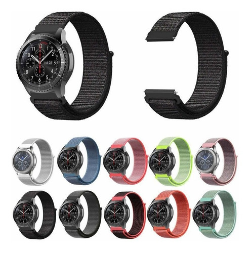 pulseira nylon para galaxy watch 46mm / samsung gear s3