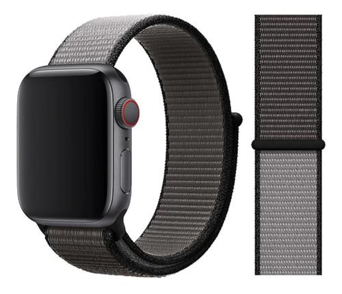 pulseira nylon sport loop p/ apple watch 38/40mm anchor gray