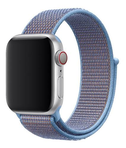 pulseira nylon sport loop p/ apple watch 38/40mm - cerulean