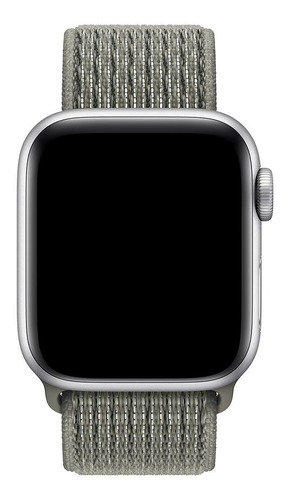 pulseira nylon sport loop p/ apple watch 38/40mm spruce fog