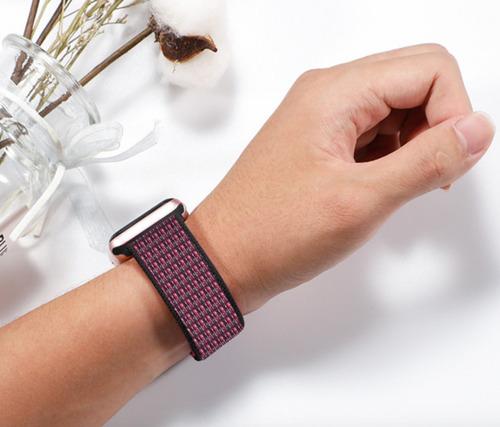 pulseira nylon sport loop p apple watch 42/44mm - pink blast
