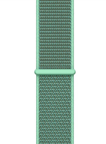 pulseira nylon sport loop p/ apple watch 42/44mm - spearmint