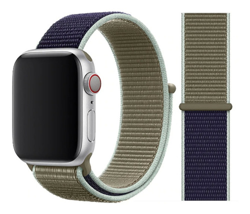 pulseira nylon sport loop para apple watch 38/40mm - khaki