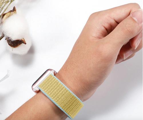 pulseira nylon sport loop para apple watch 42/44mm - camel