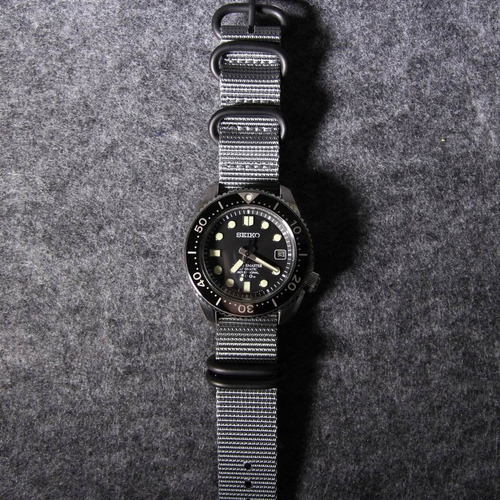 pulseira nylon zulu premium 20 mm cinza  5 anéis pvd