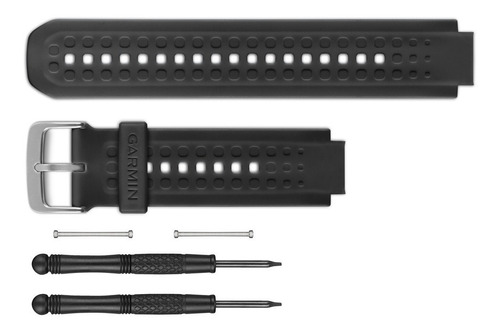pulseira original garmin forerunner 25 grande preta completa