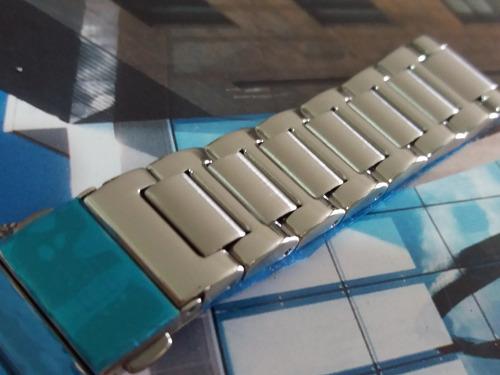 pulseira original tommy hilfiger 20mm  aço prata reta 1086