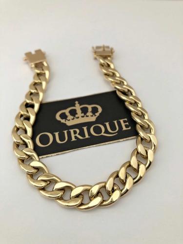 pulseira ouro 18k 750 grumet 1x1 20 gramas promoção luxo