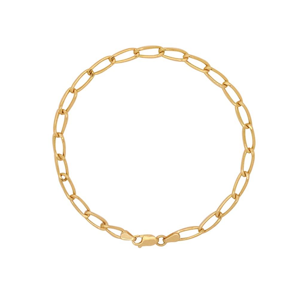 327594ddf8b Pulseira Ouro 18k Amarelo Cartier Longa Bitola 4