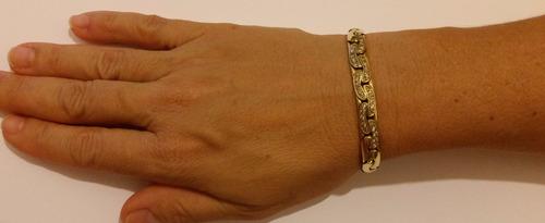 pulseira ouro 18k articulada 47,2g 35 diam. pwt a vista 6372